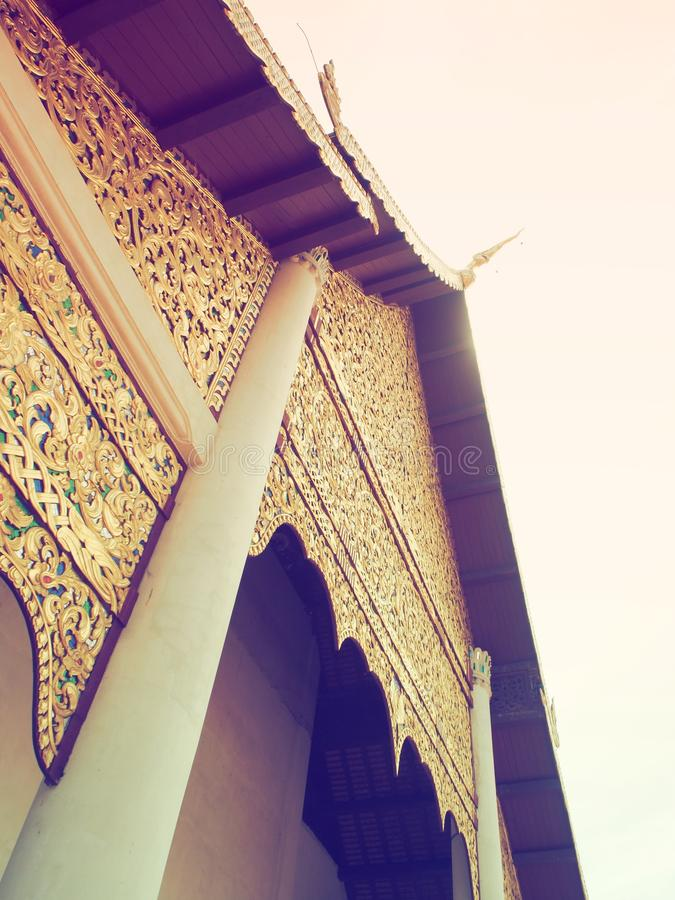 Wat Chedi Luang Chiang Mai Thaïlande image stock