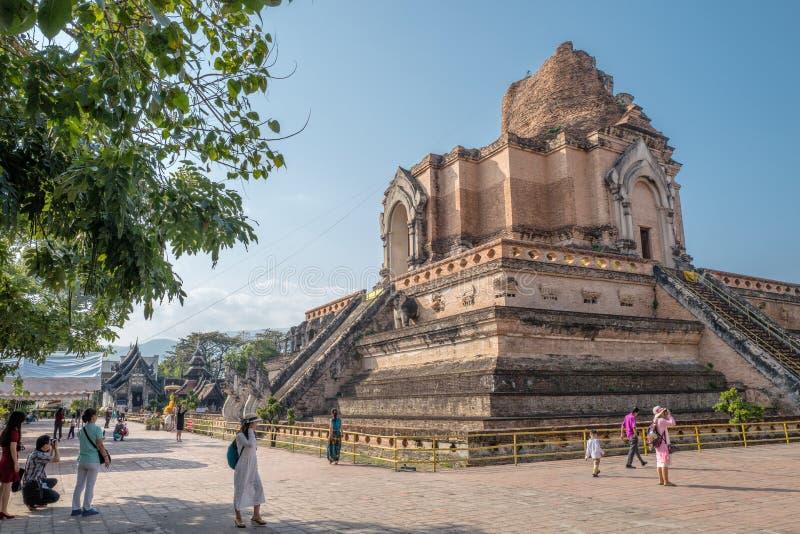 Wat Chedi Luang em Chiang Mai, Tailândia fotografia de stock royalty free