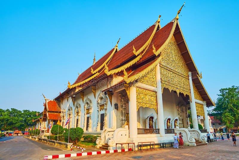 Wat Chedi Luang Main Hall, Chiang Mai, Thaïlande photo stock