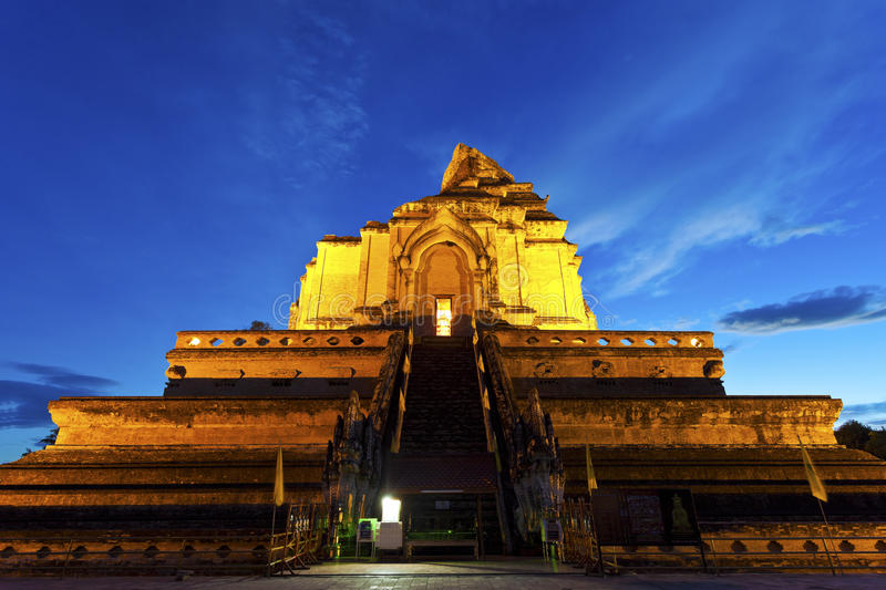 Wat Chedi Luang temple at Chiang Mai, Thailand. It is the landmark in Chiang Mai stock photos