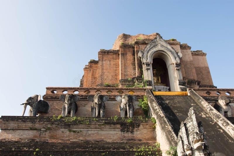 Wat Chedi Luang Temple em Chang Mai Thailand fotografia de stock