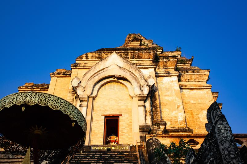 Wat Chedi Luang Varavihara, Chiang Mai, Thailand stockbild
