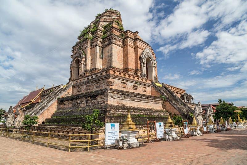Wat Chedi Luang Worawihan,清迈,泰国 库存照片