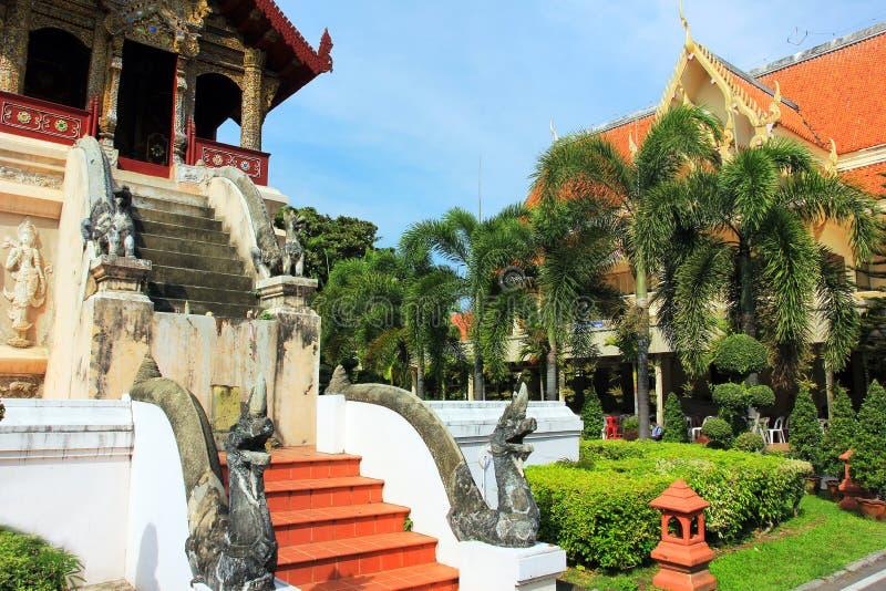 Wat Chiang Man buddhist temple, Chiang Mai Thailand royalty free stock image