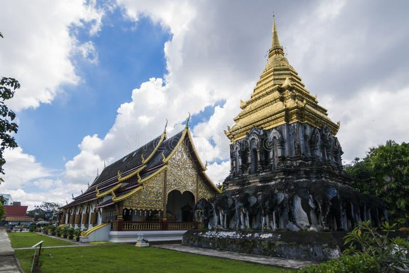 Wat Chiang Man em Chiang Mai, Tailândia fotos de stock royalty free