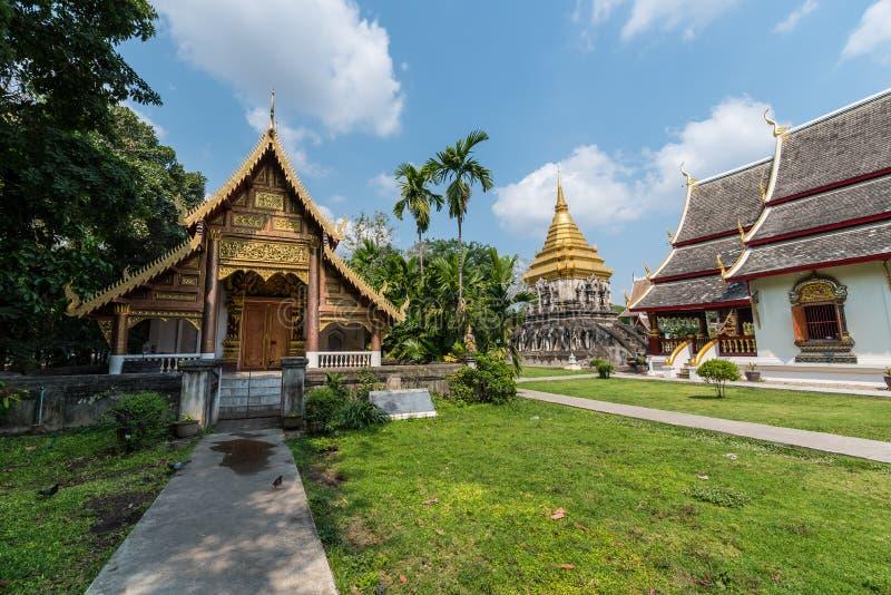 Wat Chiang Man, Chiang Mai imagens de stock royalty free