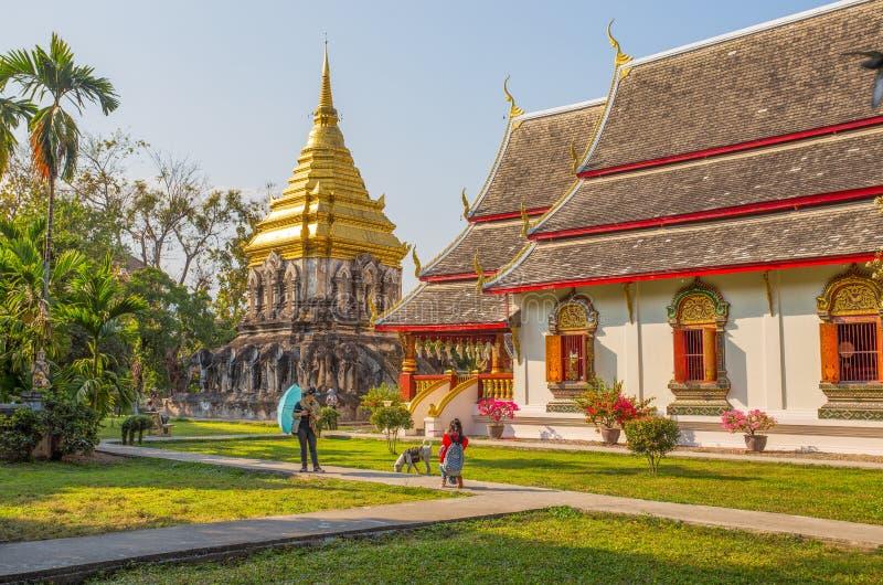 Wat Chiang Man Temple, Chiang Mai, Tailandia, il più vecchio tempio in Chiang Mai immagini stock
