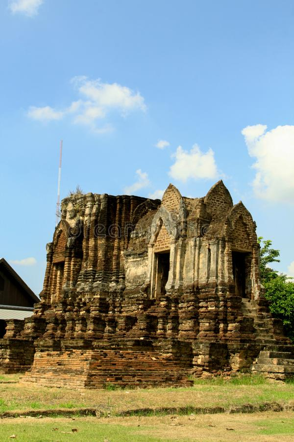 Wat Chulamanee是这是一主要旅游景点在彭世洛的佛教寺庙,泰国 免版税库存图片