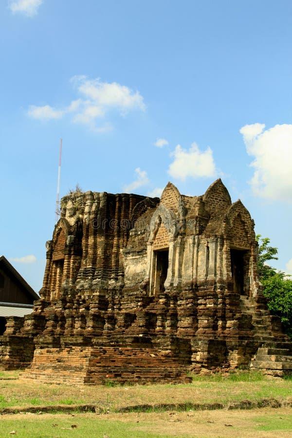 Wat Chulamanee är en buddistisk tempel som det är en viktig turist- dragning i Phitsanulok, Thailand royaltyfria bilder