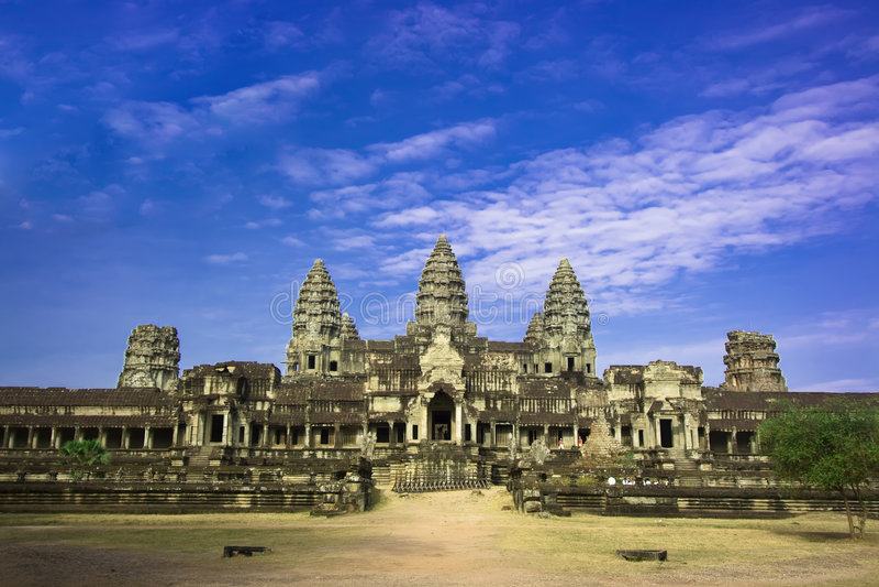 Wat d'Angkor. images stock
