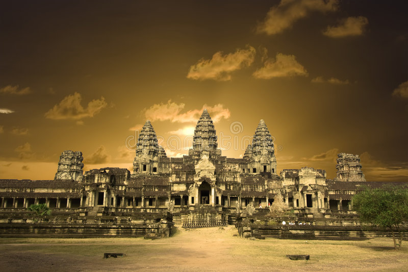 Wat d'Angkor. photographie stock