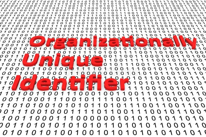 Wat de organisatie betreft Uniek Herkenningsteken vector illustratie