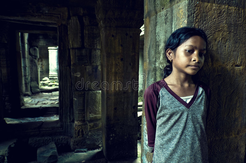 wat de temple de ta de som de fille d'angkor photos stock