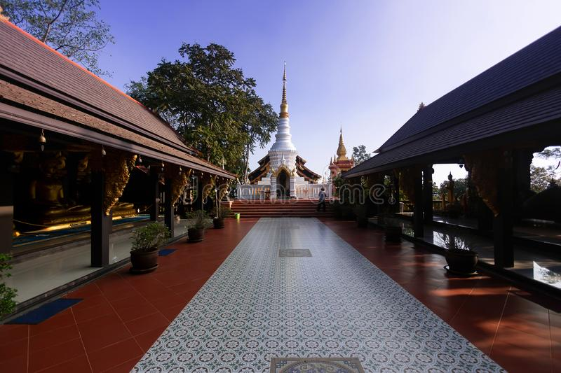 Wat Doi Phra Chan in Thailand temple stock images