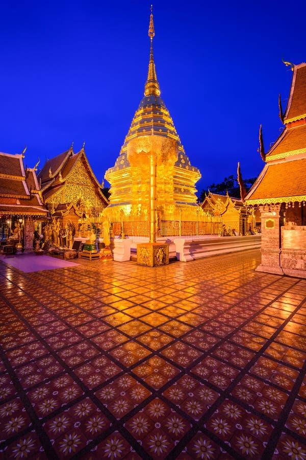 Wat Doi Suthep av Chiang Mai Thailand royaltyfri fotografi