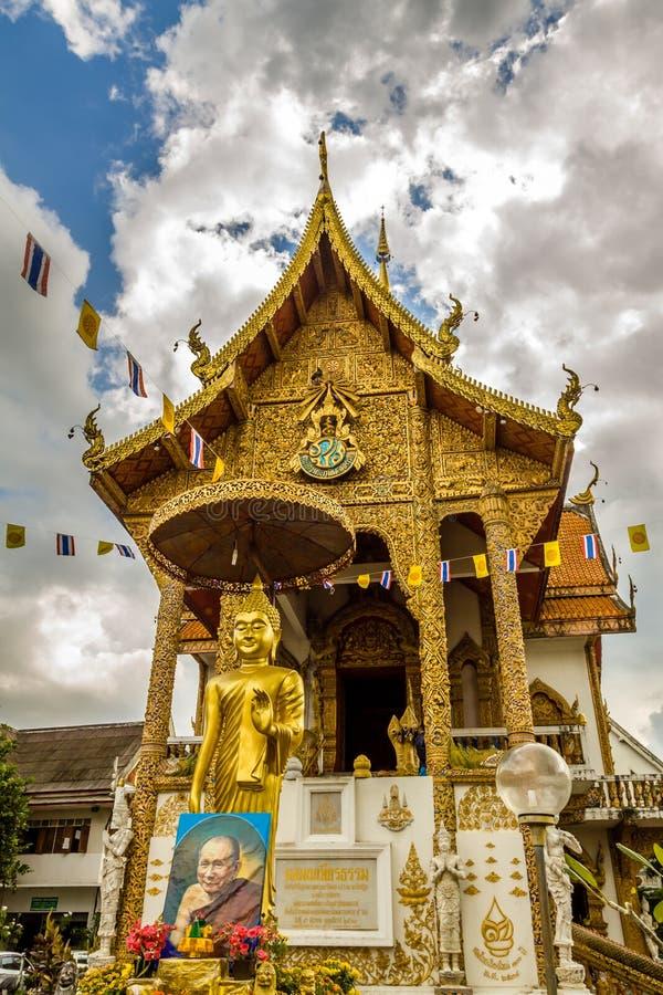 Wat em Chiang Mai fotos de stock