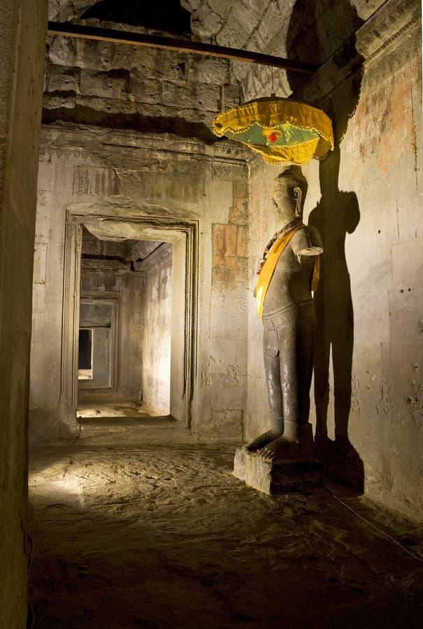 wat för angkorbuddha staty royaltyfri fotografi