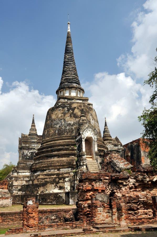 wat för si thailand för sanphet för ayutthayachedisphra arkivfoto