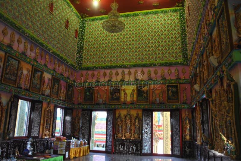 Wat Gebäude des Einblickes buddhistisches buakwan nonthaburi Thailand lizenzfreie stockfotografie