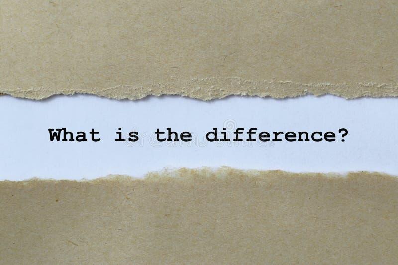 Wat het Verschil is vector illustratie