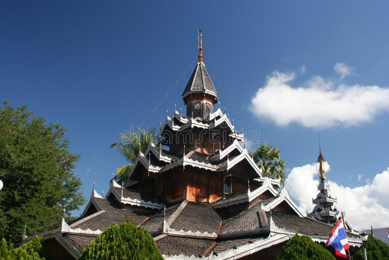 Wat Hua Wiang, Mae Hong Son, Thailand stock image