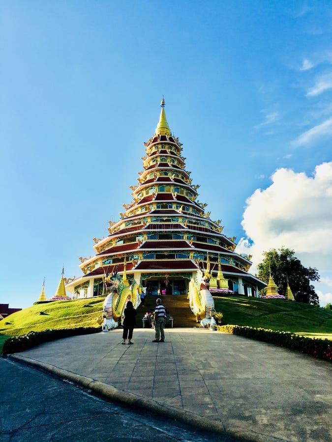 Wat Huay Pla Kang Pagoda fotos de archivo