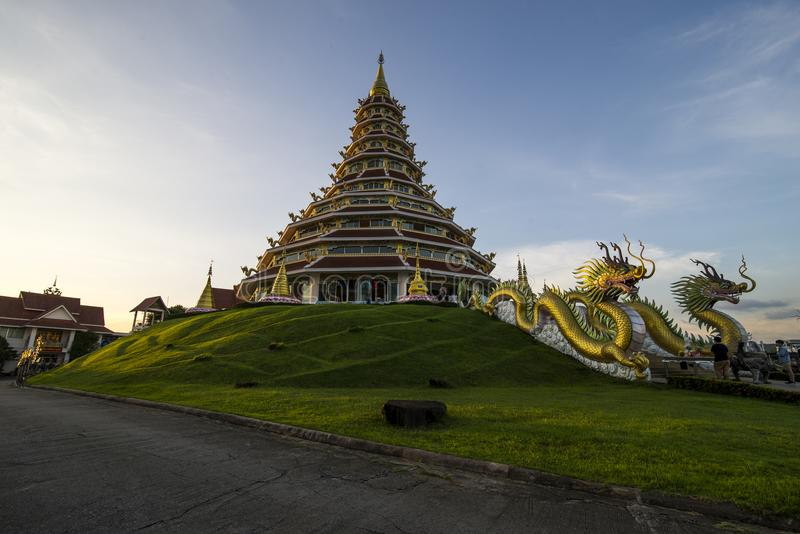 Wat Hyuaplakang em Chiang Rai imagem de stock