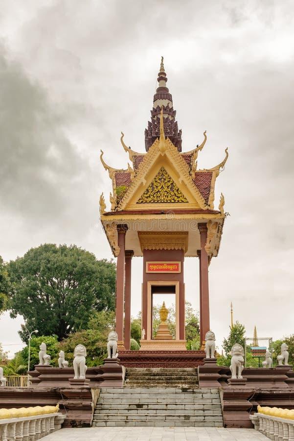 Wat IntNhean geroepen Wat Krom Buddhist-tempel in Sihanoukville C stock foto