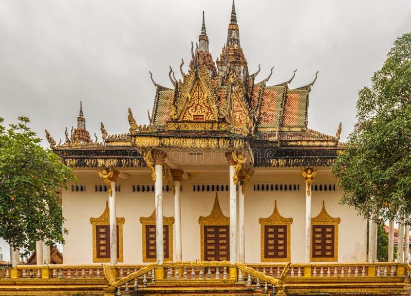 Wat IntNhean geroepen Wat Krom Buddhist-tempel in Sihanoukville C stock fotografie