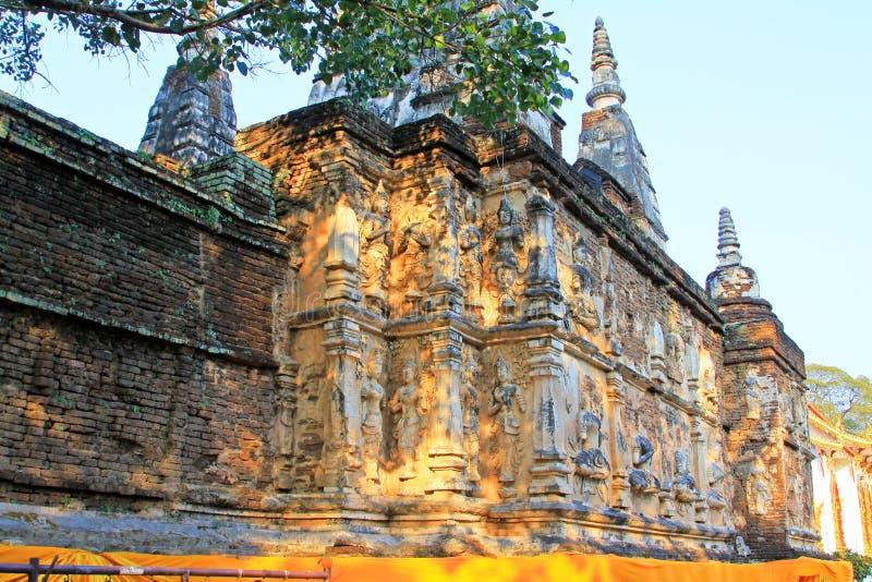 Wat Jed Yod,清迈,泰国 免版税库存照片