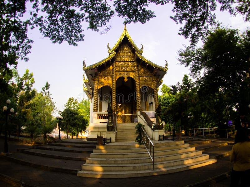 Wat jed-yod, ο ναός στο chiangmai, Ταϊλάνδη στοκ φωτογραφία