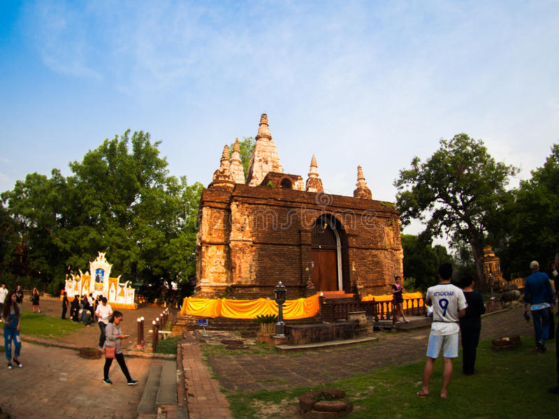 Wat jed-yod, ο ναός στο chiangmai, Ταϊλάνδη στοκ φωτογραφίες με δικαίωμα ελεύθερης χρήσης