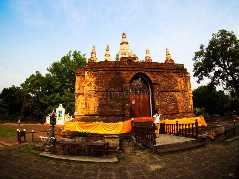 Wat jed-yod, ο ναός στο chiangmai, Ταϊλάνδη στοκ εικόνες