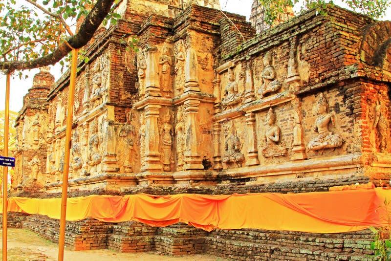 Wat Jed Yod, Чиангмай, Таиланд стоковое фото rf