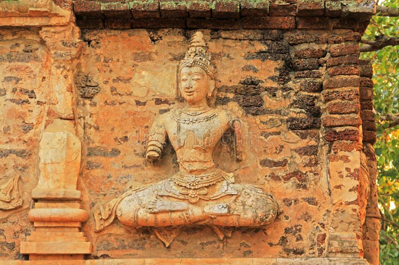 Buddha Image At Wat Jed Yod, Chiang Mai, Thailand. The Wat Jed Yod is an attractive Lanna era temple complex in the outskirts of Chiang Mai that contains some royalty free stock photography