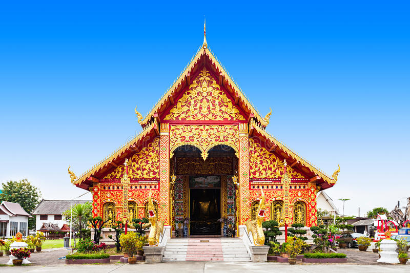 Wat Jed Yod. Is a buddhist temple situated in Chiang Rai City, Thailand royalty free stock photography