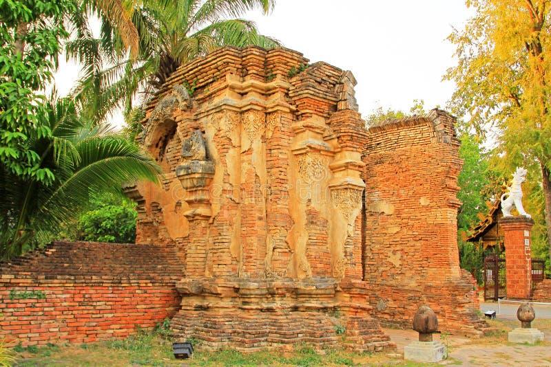 Wat Jed Yod Chiang Mai, Thailand royaltyfri bild