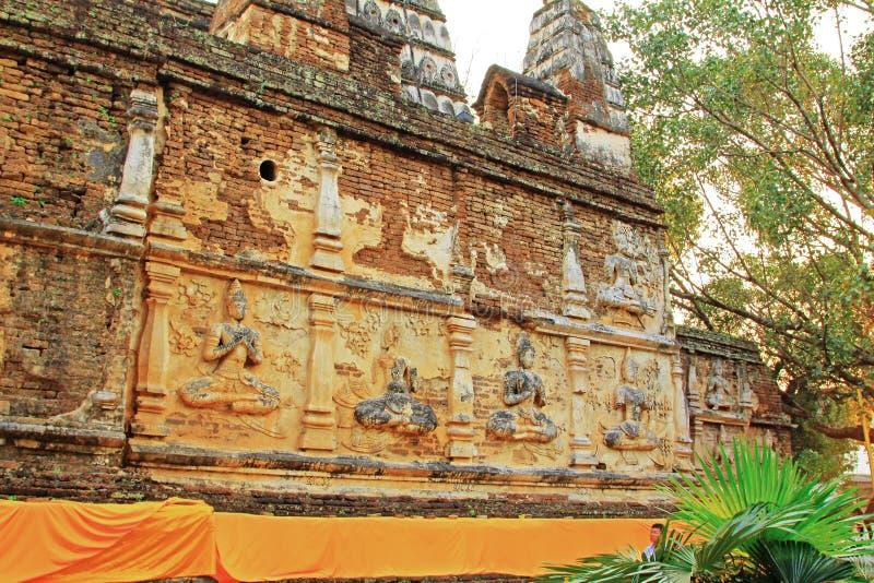 Wat Jed Yod Chiang Mai, Thailand arkivbilder