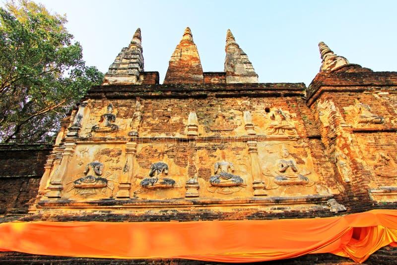 Wat Jed Yod Chiang Mai, Thailand arkivbild