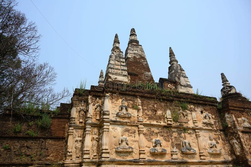 Wat Jed yod ChiangMai arkivfoto
