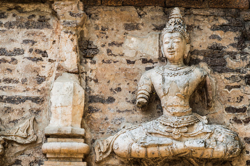 Wat Jed Yod i Chiangmai, Thailand. arkivbild