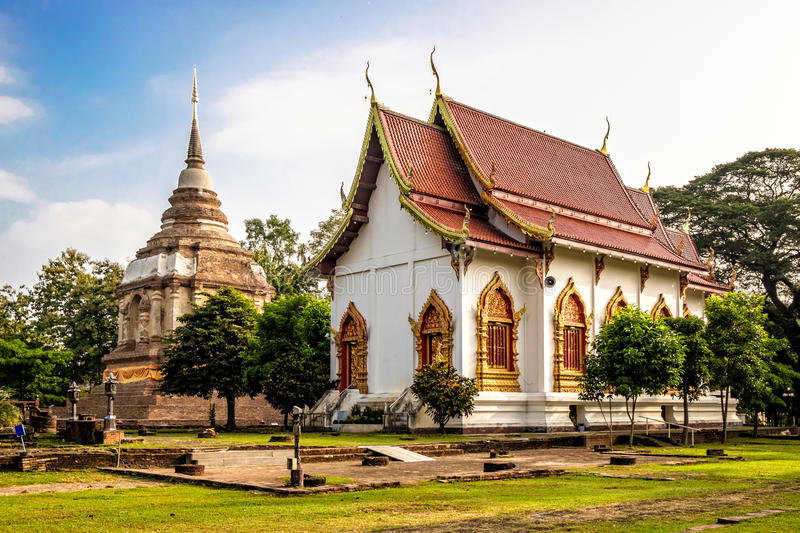 Wat Jed Yod. An old temple in Chiang Mai royalty free stock photos
