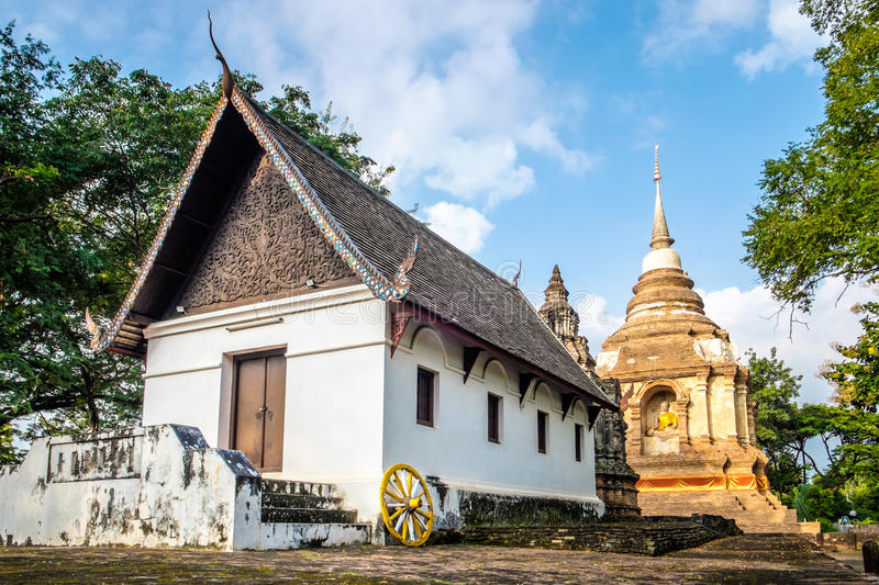 Wat Jed Yod. An old temple in Chiang Mai royalty free stock photography