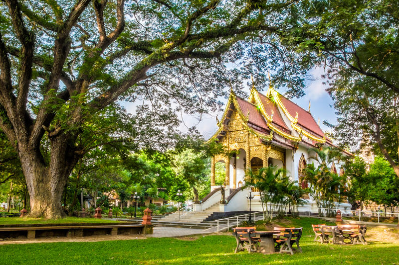 Wat Jed Yod. An old temple in Chiang Mai royalty free stock photo