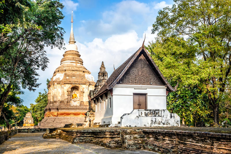Wat Jed Yod. An old temple in Chiang Mai royalty free stock images