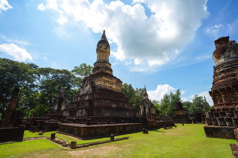 Wat Jedi Jed Teaw temple in Sukhothai province, Thailand. UNESCO World Heritage site Wat Jedi Jed Teaw in Si Satchanalai Historical Park, Sukhothai, Thailand royalty free stock images