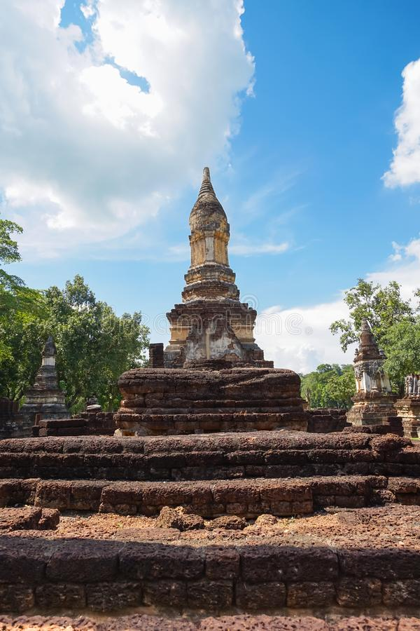 Wat Jedi Jed Teaw temple in Sukhothai province, Thailand. UNESCO World Heritage site Wat Jedi Jed Teaw in Si Satchanalai Historical Park, Sukhothai, Thailand royalty free stock image