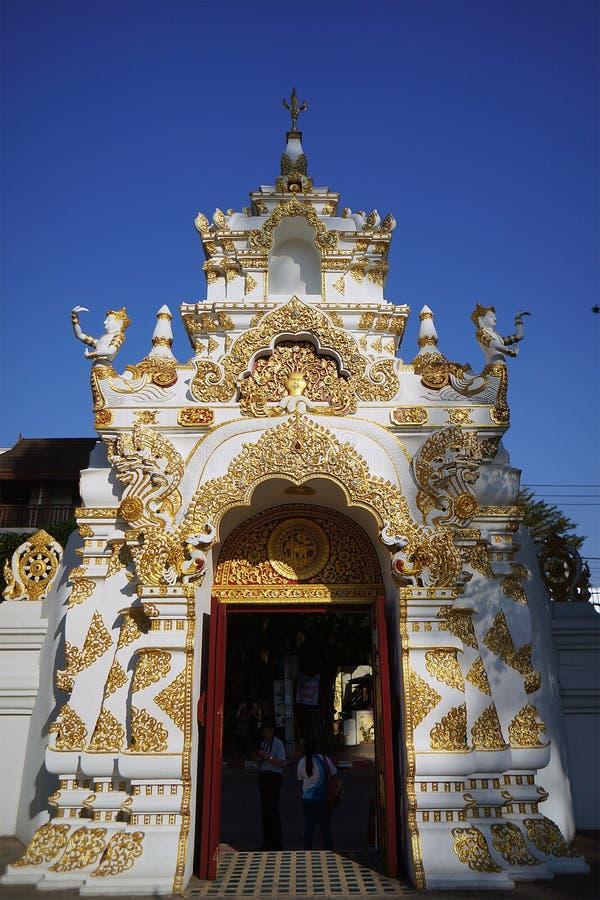 Wat Jedi Luang Chiangmai Thailand images libres de droits
