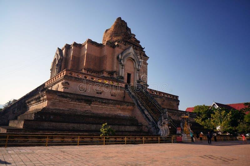 Wat Jedi Luang Chiangmai Thailand images stock