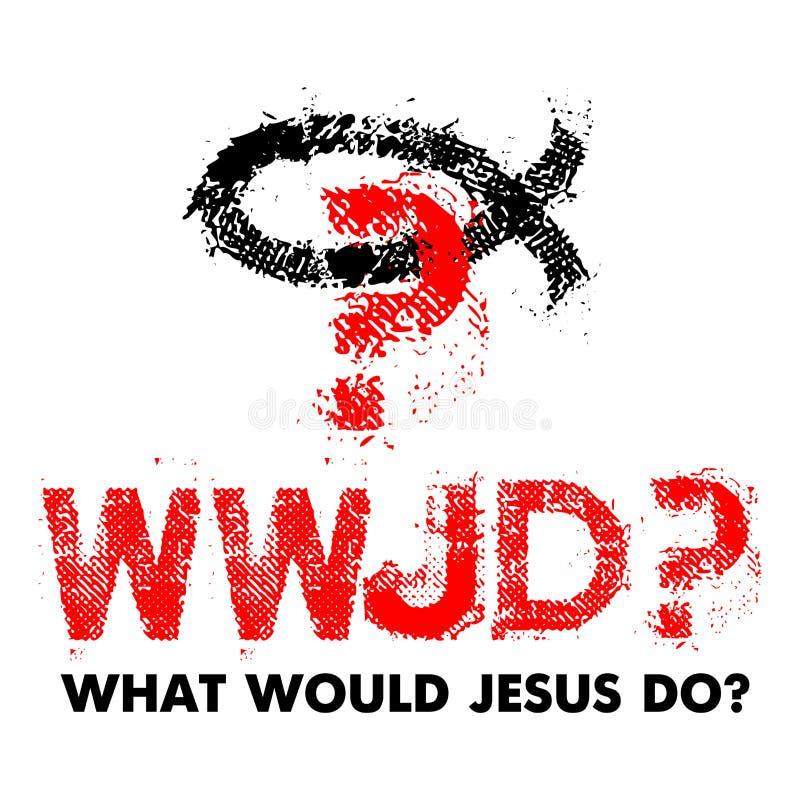 Wat Jesus Do  Christelijke illustratie stock illustratie